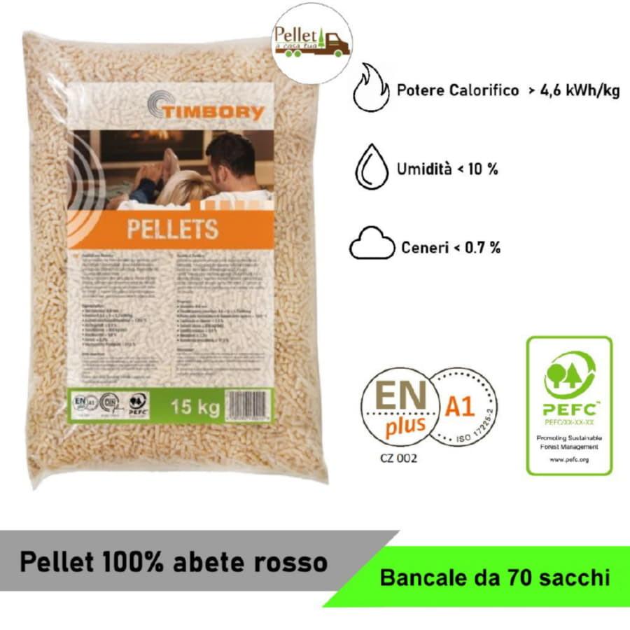 Pellet Timbory da 1 a 70 sacchi da 15 Kg